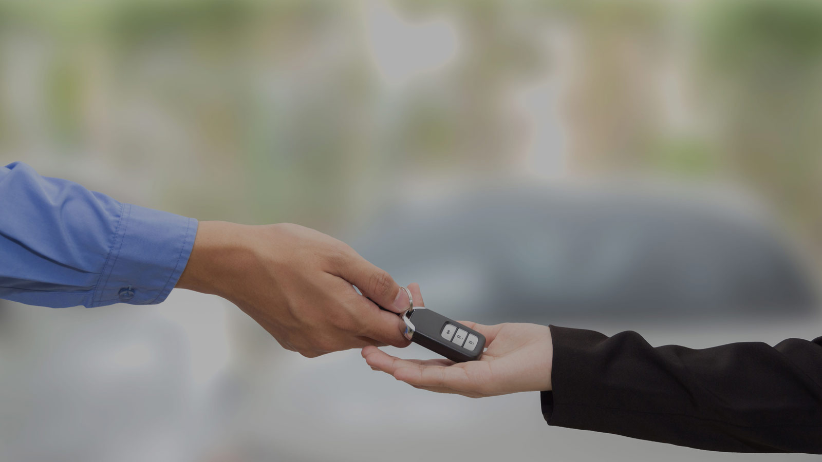 Passing keys to loan car